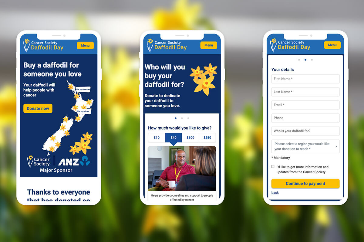 Daffodil Day + Covid Outdoors Website
