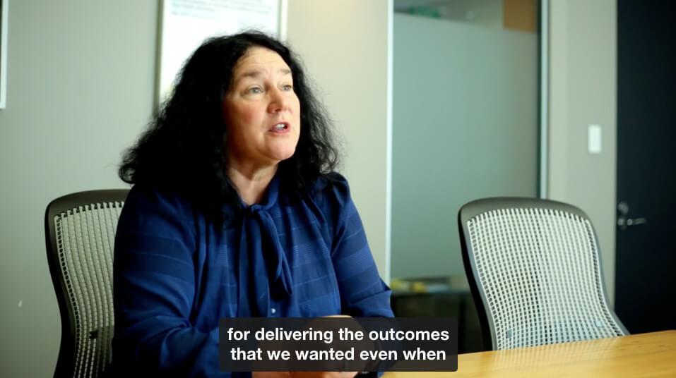 citizens advice bureau case study video screenshot with captions