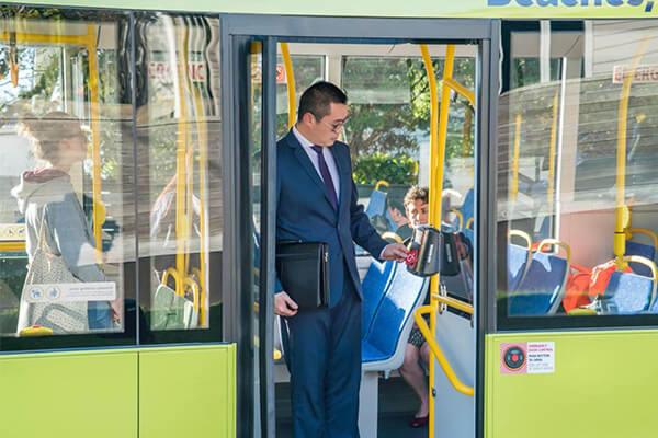 metlink bus stock image