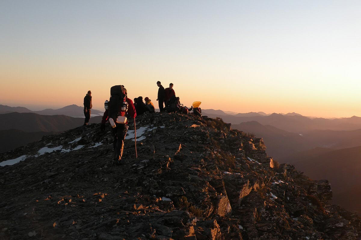 outward bound mountain sunset